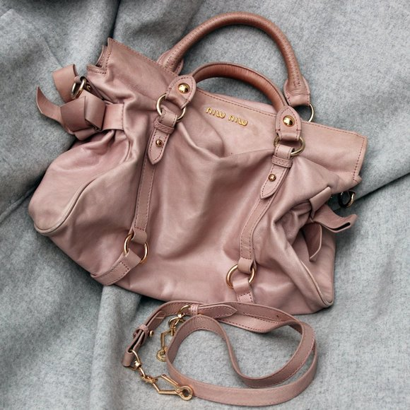Miu Miu Soft Pink Shoulder Crossbody Handbag